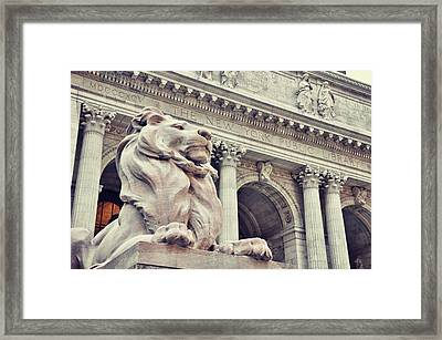 The Library Lions Framed Print by JAMART Photography