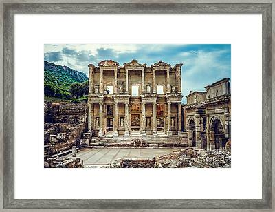 The Library Of Celsus Framed Print