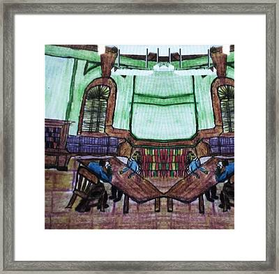 The Library Part 2 Framed Print