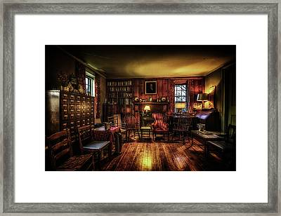 The Library Framed Print by Ryan Wyckoff