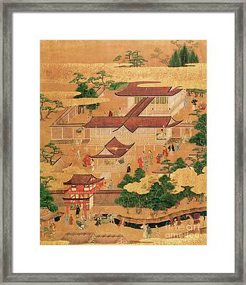 The Life And Pastimes Of The Japanese Court - Tosa School - Edo Period Framed Print