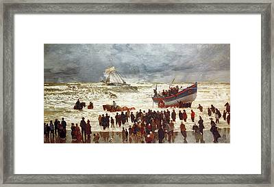 The Lifeboat Framed Print by William Lionel Wyllie