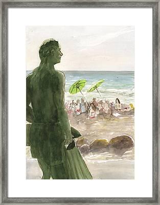 The Lifeguard Framed Print
