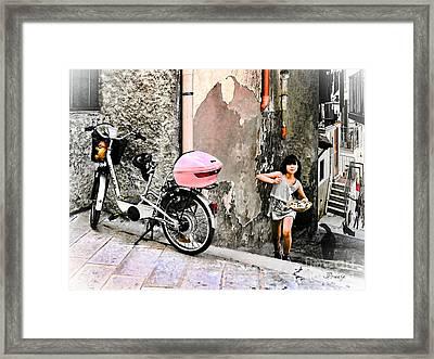 The Life.vieste.italy Framed Print by Jennie Breeze