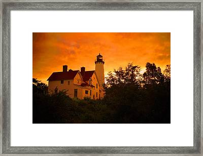 The Light At Dusk Framed Print