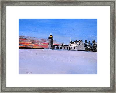 The Light At Pemaquid Point Framed Print by Paul Larson