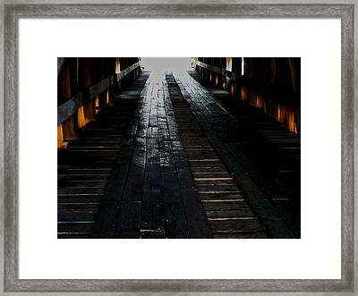 The Light At The End Framed Print by Martin Morehead
