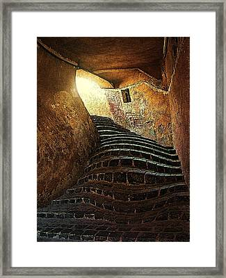 The Light At The End Of The Tunel Framed Print by Lucian Badea