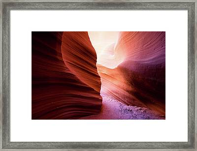 Framed Print featuring the photograph The Light At The End by Stephen Holst