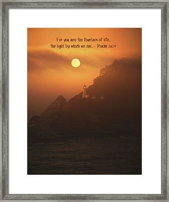 The Light Framed Print by Bonnie Bruno