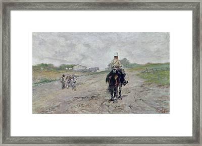 The Light Cavalryman Framed Print