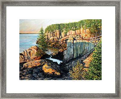 The Light Dawns On West Quoddy Head Framed Print