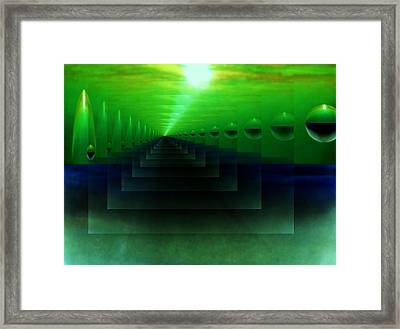 The Light From Eden Framed Print
