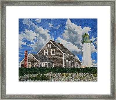The Light Keeper's House Framed Print
