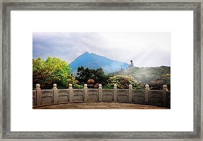 The Light Of Buddha Framed Print