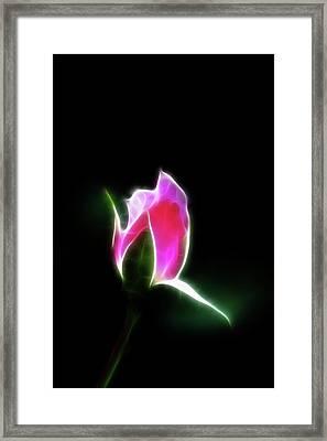 The Light Of Heaven Shining Down Framed Print