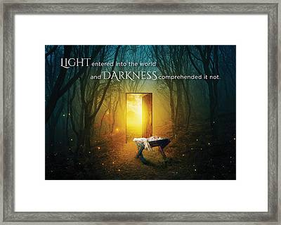 The Light Of Life Framed Print