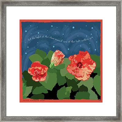 The Light Of The Stars Framed Print by Susan Spangler
