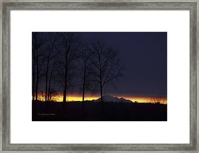 The Light On The Mountain Framed Print