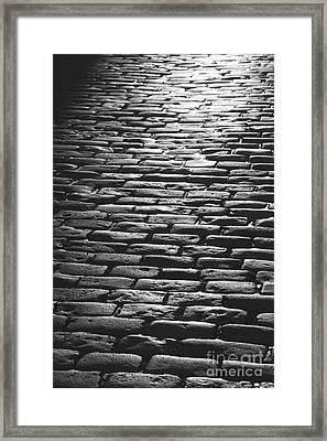 The Light On The Stone Pavement Framed Print by Hideaki Sakurai