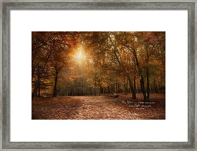 Framed Print featuring the photograph The Light by Robin-Lee Vieira