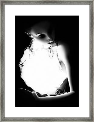 The Light - Self Portrait Framed Print by Jaeda DeWalt