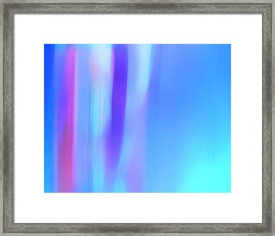 The Light Side Of The Blue Framed Print by Monica Palermo