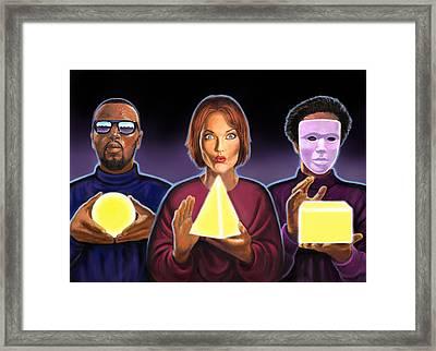 The Light Framed Print by Valer Ian