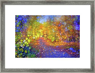 The Light Within The Blue Framed Print
