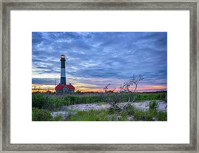 The Lighthouse At Dusk Framed Print