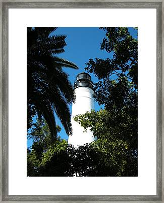 The Lighthouse Framed Print by Audrey Venute