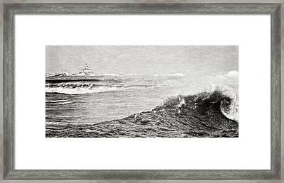 The Lighthouse Framed Print by Everet Regal