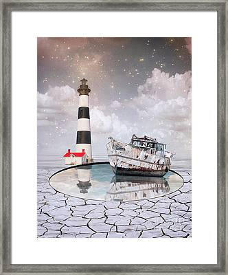 Framed Print featuring the photograph The Lighthouse by Juli Scalzi