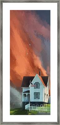 The Lighthouse Keeper's House Framed Print by Lois Bryan