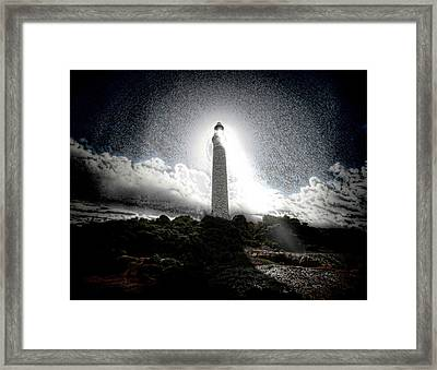 The Lighthouse Framed Print by Mimulux patricia no No