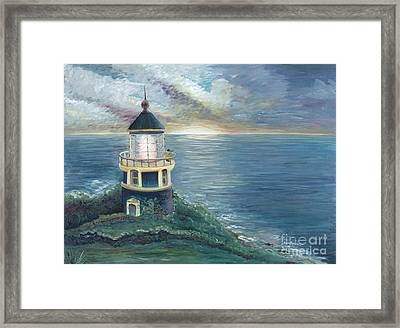 The Lighthouse Framed Print by Nadine Rippelmeyer