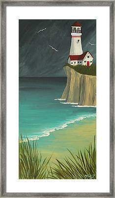 The Lighthouse On The Cliff Framed Print
