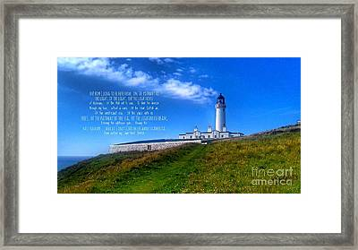 The Lighthouse On The Mull With Poem Framed Print