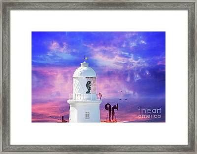 The Lighthouse Framed Print by Terri Waters
