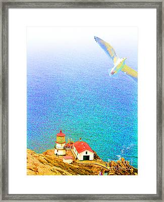 The Lighthouse Framed Print by Wingsdomain Art and Photography