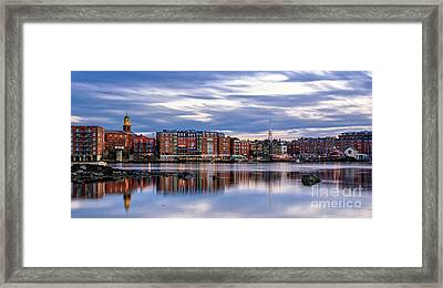The Lights Come On In Portsmouth Framed Print by Scott Thorp