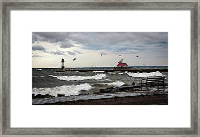 The Lights In The Storm Framed Print