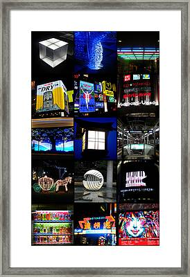 The Lights Of Japan Framed Print