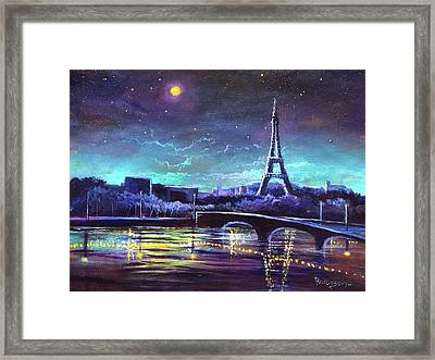 The Lights Of Paris Framed Print