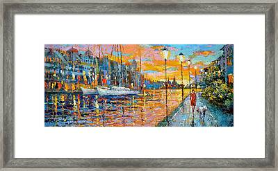 The Lights Of The Stockholm Framed Print by Dmitry Spiros