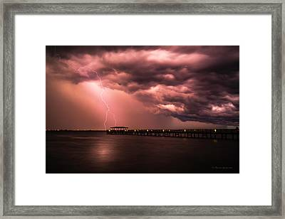 The Lightshow Framed Print by Marvin Spates