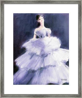 The Lilac Evening Dress Framed Print by Beverly Brown