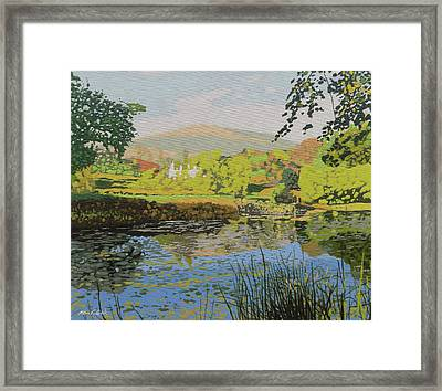The Lilly Pond Framed Print by Malcolm Warrilow