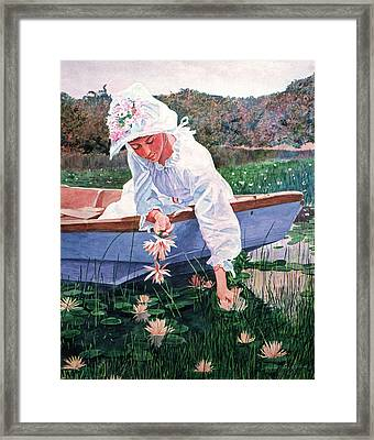 The Lily Gatherer Framed Print by David Lloyd Glover