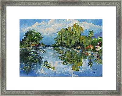 The Lily Pond At Giverny  Framed Print by Torrie Smiley
